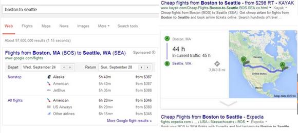 Google Boston to Seattle