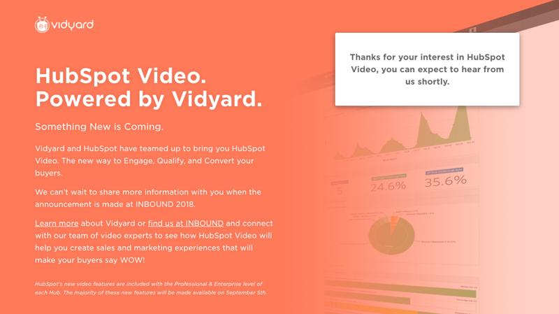 Hubspot Video with Vidyard