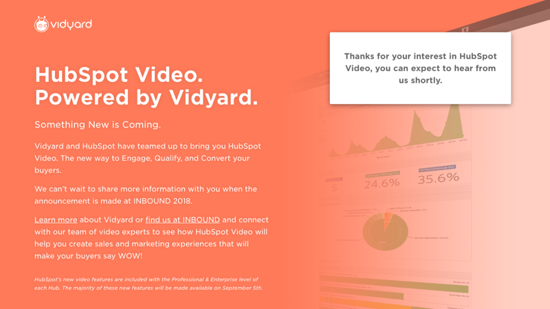Hubspot Video with Vidyard